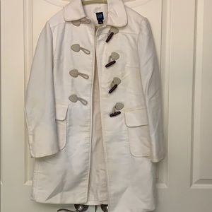 Gap White London Pea Coat Size S